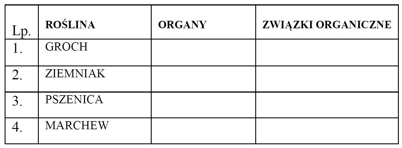 Organy roślin. Korzenie, łodygi, liście, owoce, nasiona