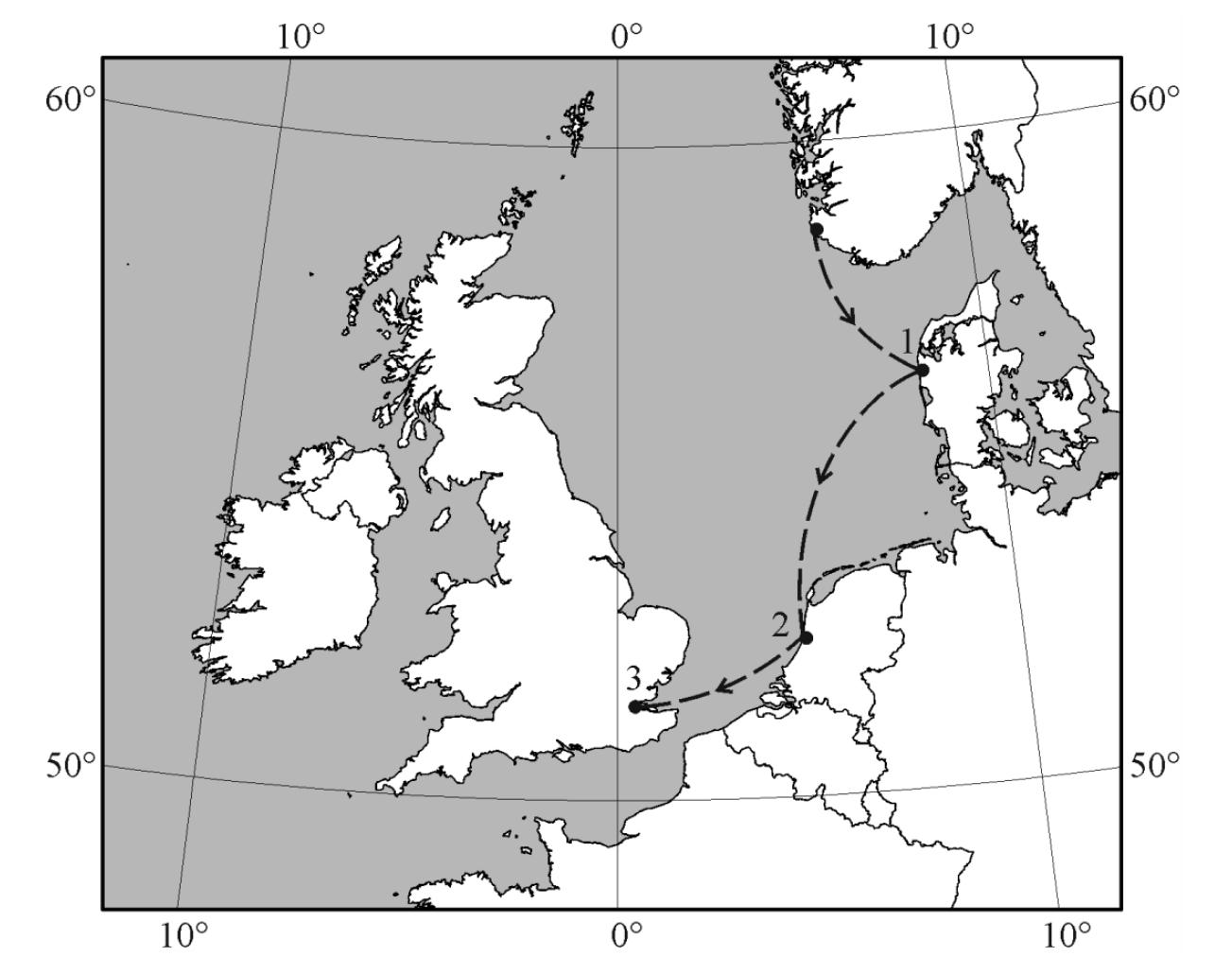 Mapa Europy, państwa basenu morza Bałtyckiego