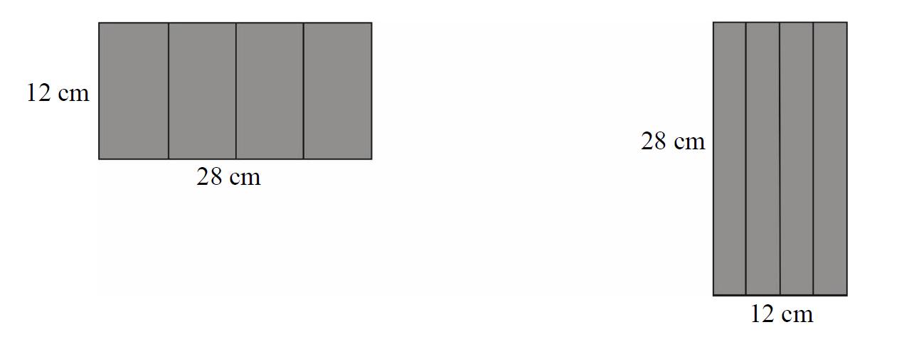 Maja zrobiła dwa pudełka w kształcie graniastosłupów prawidłowych czworokątnych o różnych objętościach.