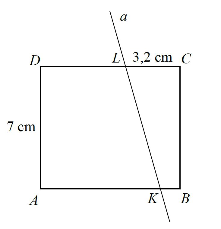 Prostokąt ABCD o wymiarach 7 cm i 8 cm rozcięto…