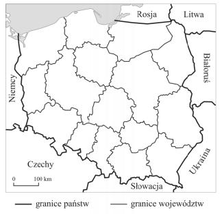 Ze Słowacją graniczą między innymi województwa?