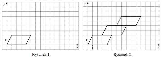 Małgosia narysowała w opisany sposób czwarty równoległobok. Współrzędna y prawego górnego wierzchołka tego równoległoboku jest równa…