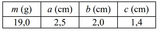 Po porównaniu wyniku obliczeń z danymi w tabeli gęstości różnych metali uczniowie stwierdzili, że przedmiot był wykonany…