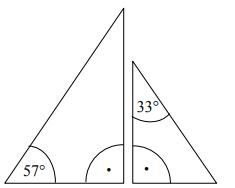 Na rysunku przedstawiono dwa trójkąty prostokątne.