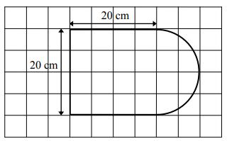 Powierzchnia tej deski (w cm2) jest równa