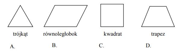 Która figura ma tylko jedną parę boków równoległych?