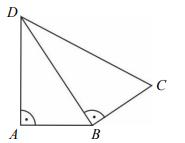 Na rysunku przedstawiono czworokąt zbudowany z dwóch trójkątów prostokątnych.