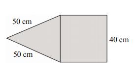 Suma długości wszystkich krawędzi tego ostrosłupa jest równa…