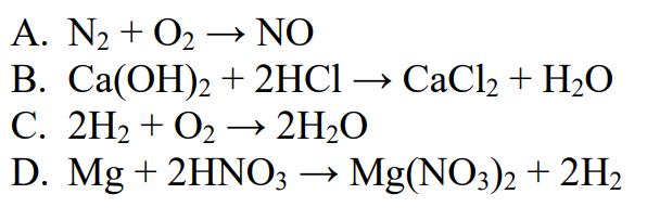 W którym z podanych równań reakcji chemicznych poprawnie dobrano współczynniki?