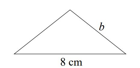 Obwód trójkąta równoramiennego jest równy 18 cm. Jego podstawa ma długość 8 cm.