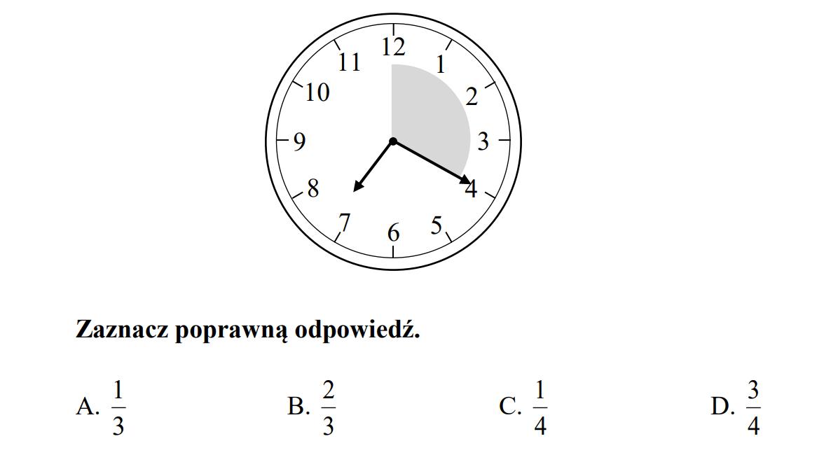 Jaka część godziny upłynęła od godziny 7:00 do 7:20?